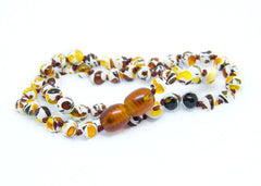(12.5in) Certified Baltic Amber Teething Necklace for Baby - Mosaic -  - The Art of Cure