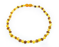 (12.5in) Certified Baltic Amber Teething Necklace for Baby - Raw Honey/Lemon -  - The Art of Cure