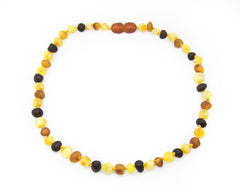 (17in) Certified Baltic Amber Necklace - Raw Multicolored - Anti-Inflammatory -  - The Art of Cure