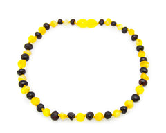 The Art of Cure Baltic Amber Teething Necklace (Raw Cherry/Milk) - 12-12.5 inches - Toys & Accessories - The Art of Cure