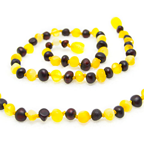 The Art of Cure Baltic Amber Teething Necklace (Raw Cherry/Milk) - 12-12.5 inches