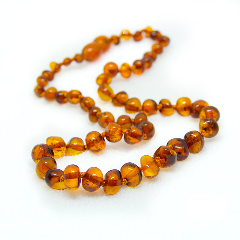 (17in) Certified Baltic Amber Necklace - Honey - Anti-inflammatory -  - The Art of Cure