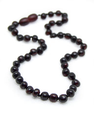 (12.5in) Certified Baltic Amber Teething Necklace for Baby (Raw Cherry) - Anti-inflammatory -  - The Art of Cure