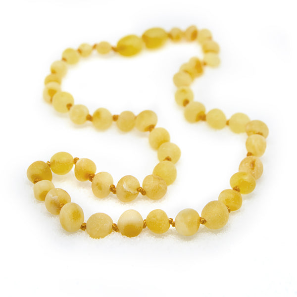 (12.5in) Certified Baltic Amber Teething Necklace for Baby (Raw Butterscotch) - Anti-inflammatory -  - The Art of Cure