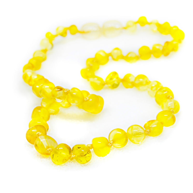 (12.5in) Certified Baltic Amber Teething Necklace for Baby - Lemon -  - The Art of Cure