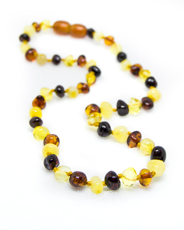 (25in) Certified Baltic Amber Adult Necklace - Multicolored -  - The Art of Cure