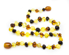 (17in) Certified Baltic Amber Necklace - Multicolored - Adult Healing - The Art of Cure