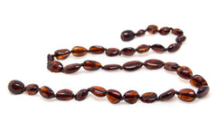 Certified Baltic Amber Teething Necklace for Baby - Cherry Bean