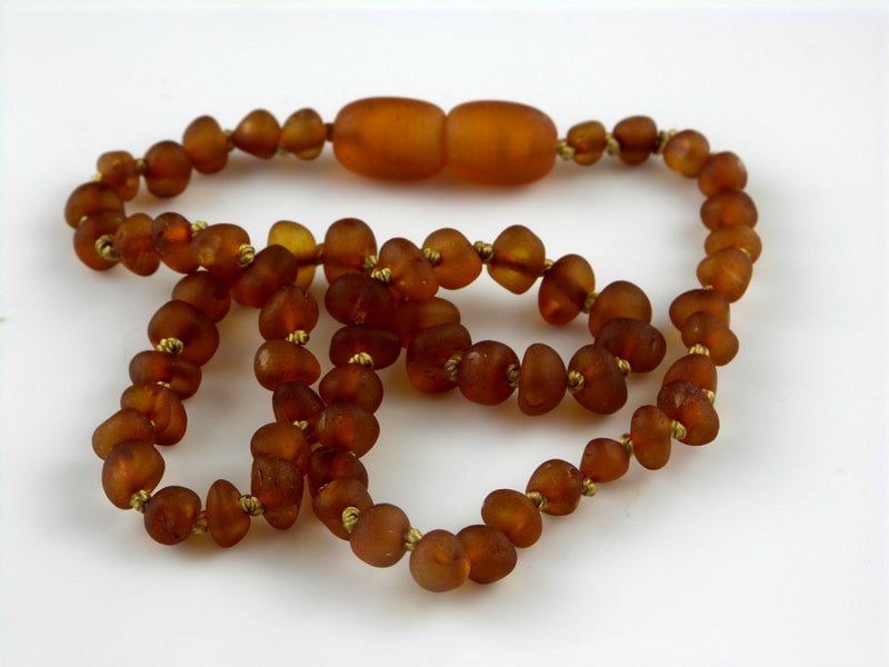(12.5 in) The Art of Cure Certified Baltic Amber Necklace - Raw Cognac