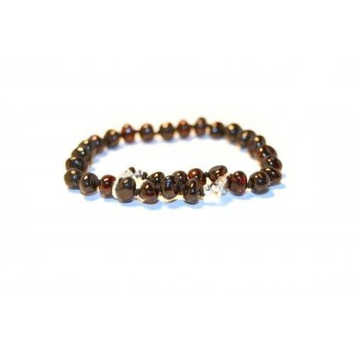 (10 in) Certified Baltic Amber Adjustable Bracelet or Anklet - Silver Lobster Clasp - Cherry - Adult Healing - The Art of Cure