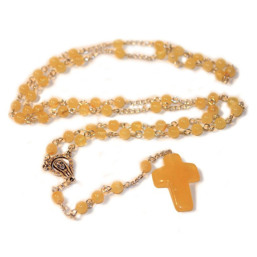 Adult Healing - 100% Natural Butter Baltic Amber CHRISTIAN, CATHOLIC ROSARY Meditation & Prayer Beads
