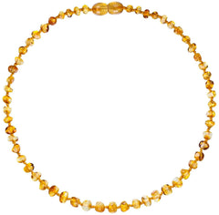 Adult Healing - (17in) Certified Baltic Amber Necklace - Lemon