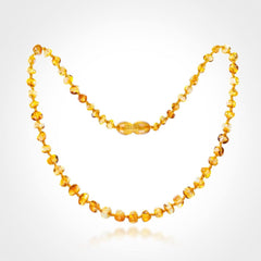 (17in) Certified Baltic Amber Necklace - Lemon - Adult Healing - The Art of Cure