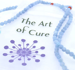 Adult Healing - Healing Jewelry & Mala Meditation Beads (108 Beads On A Strand) Aquamarine