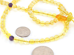 Healing Jewelry & Mala Meditation Beads (108 beads on a strand) Citrine - Adult Healing - The Art of Cure