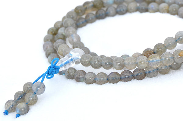 Healing Jewelry & Mala meditation beads (108 beads on a strand) Labradorite or Healing Moonstone - Adult Healing - The Art of Cure