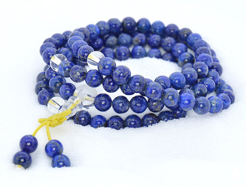 Healing Jewelry & Mala meditation beads (108 beads on a strand) Lapis