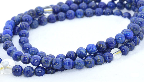 Healing Jewelry & Mala meditation beads (108 beads on a strand) Lapis - Adult Healing - The Art of Cure