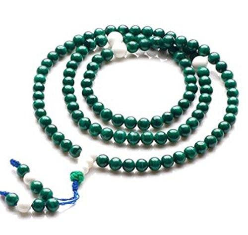 Adult Healing - Healing Jewelry & Mala Meditation Beads (108 Beads On A Strand) Malachite