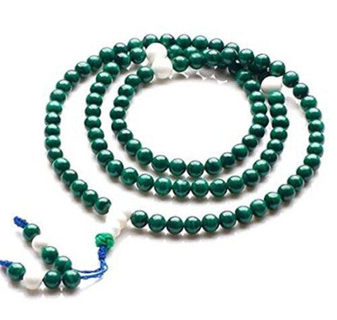 Healing Jewelry & Mala meditation beads (108 beads on a strand) Malachite