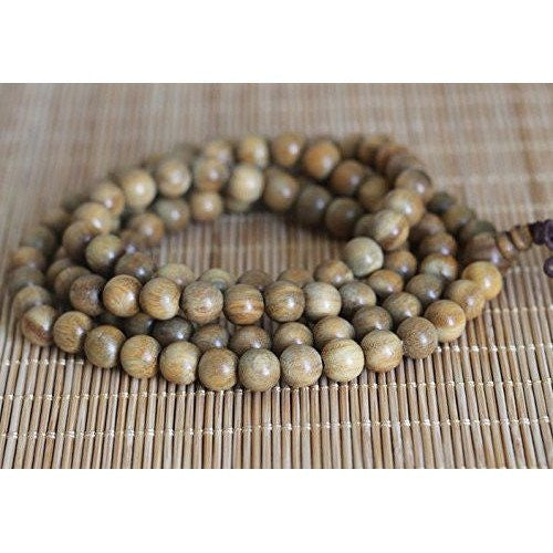 Healing Jewelry & Mala meditation beads (108 beads on a strand) Natural Green Sandalwood - Adult Healing - The Art of Cure