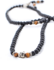 Healing Jewelry & Mala Meditation Beads (108 beads on a strand) Onyx & Tigers Eye - Adult Healing - The Art of Cure