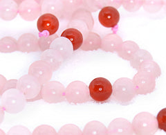 Adult Healing - Healing Jewelry & Mala Meditation Beads (108 Beads On A Strand) Pink Rose Quartz