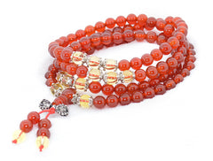 Adult Healing - Healing Jewelry & Mala Meditation Beads (108 Beads On A Strand) Red Agate