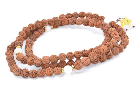 Healing Jewelry & Mala Meditation Beads (108 beads on a strand) Rudraksha Beads