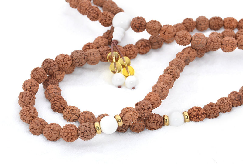 Healing Jewelry & Mala Meditation Beads (108 beads on a strand) Rudraksha Beads - Adult Healing - The Art of Cure