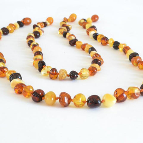 Multicolored Mom & Baby Set Baltic Amber Baby Teething Necklace (rare) The Art of Cure™ Direct