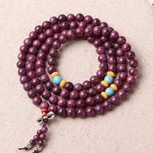 Healing Jewelry & Mala Meditation Beads (108 beads on a strand) Natural Silkwood -  - The Art of Cure