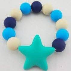 Organic Silicone Teething Bracelet & Teether, BPA Free, All Natural