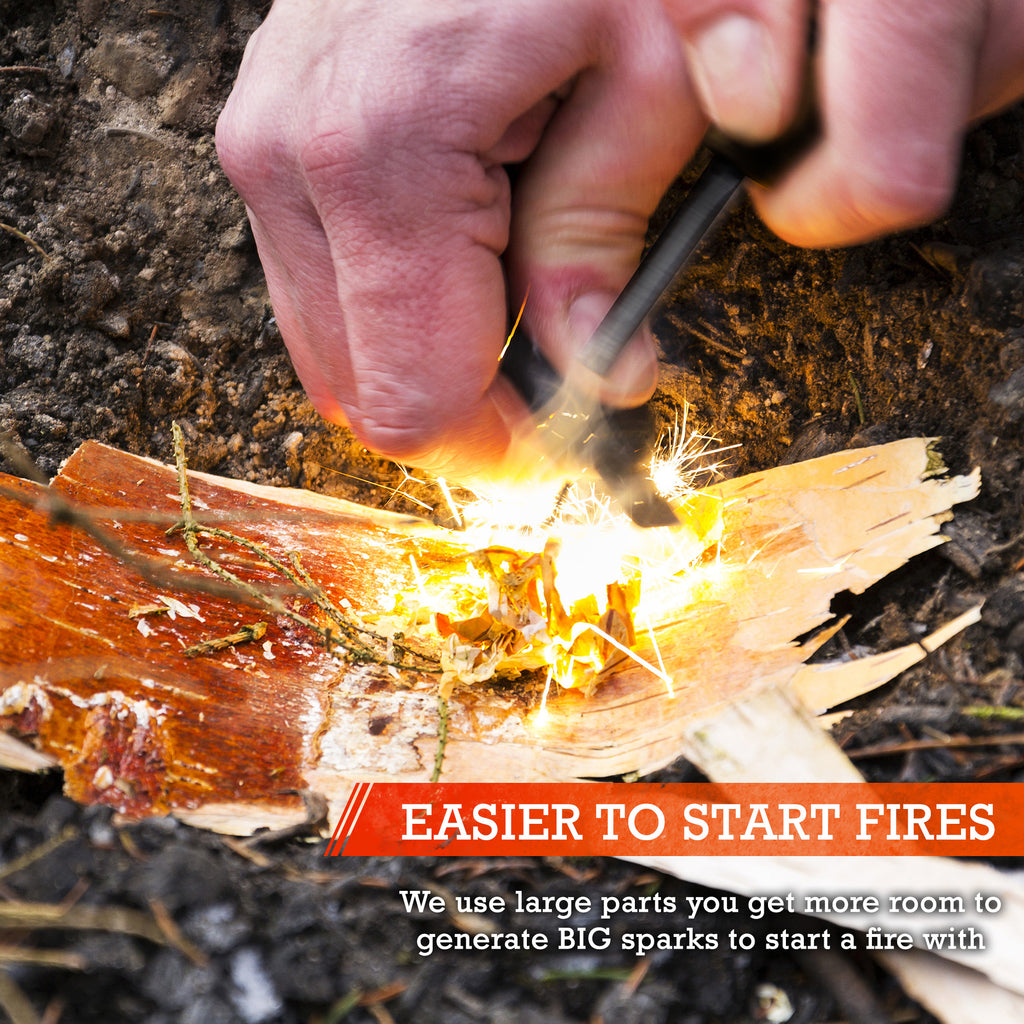 Alpha Encender Fire Starter with Magnesium Rod By Aspen Ridge Sports