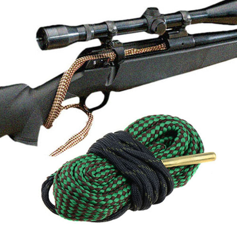 Green Bore Snake Rifle Cleaning .22 Cal .223 5.56mm .30 308 30-06 7.62 44cal