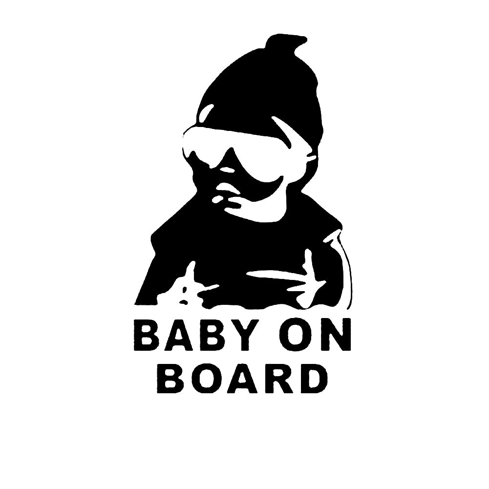 Gangsta Baby On Board Warning Decal Reflective Waterproof Car Window Vinyl Stickers