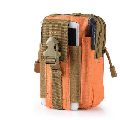 Universal Outdoor Tactical Holster Military Molle Hip Waist Belt Bag Wallet Pouch Purse Phone Case with Zipper for iPhone/LG/HTC