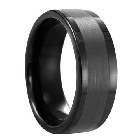 top canada tungsten wedding rings for men - All Black Wedding Rings