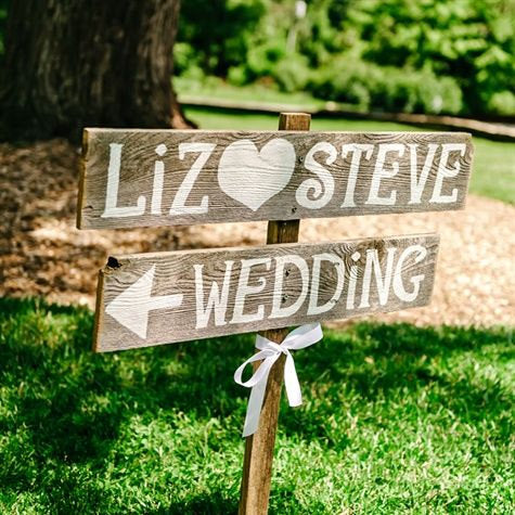 Rustic Wedding Signs For Your Guest. Don't let them get lost