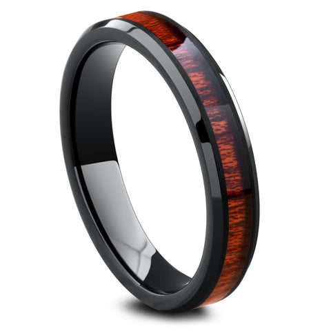 Womens Wooden Wedding Ring - Yooper 4mm