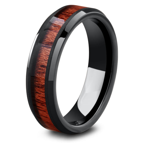 Men's 6mm Yooper _ Men's Black Wedding Ring
