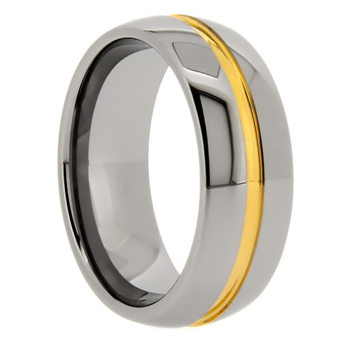 8mm high polish finish tungsten carbide ring for men