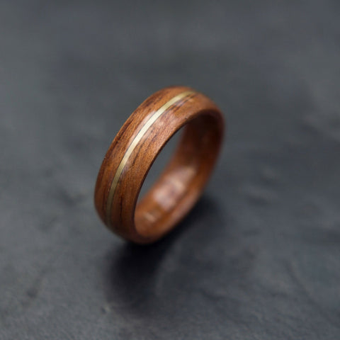 Bentwood Koa Ring With Brass Center