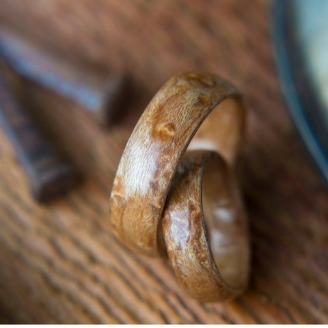 Birdeye Maple Bentwood Wedding Ring