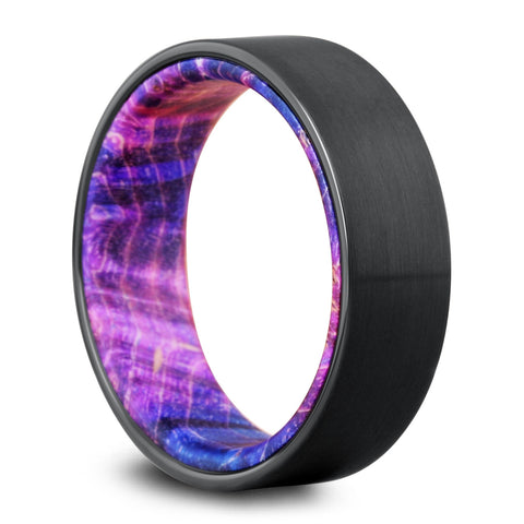 The Galaxy Black Wooden Wedding Ring