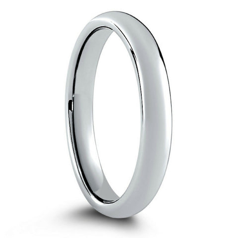 Classic Silver Wedding Band For Men Or Women Crafted Out Of Tungsten Carbide
