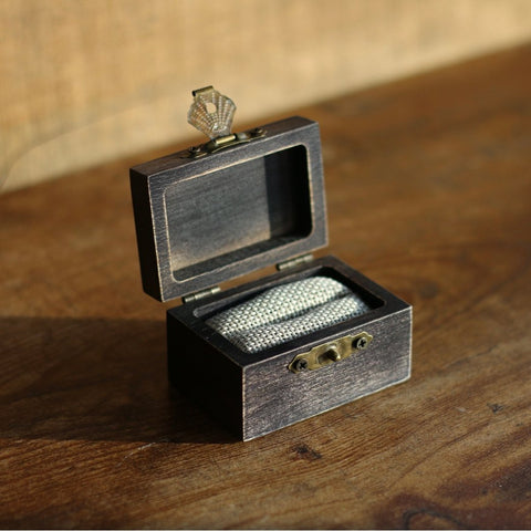 Koa Wood Wedding Ring Box - Customizable