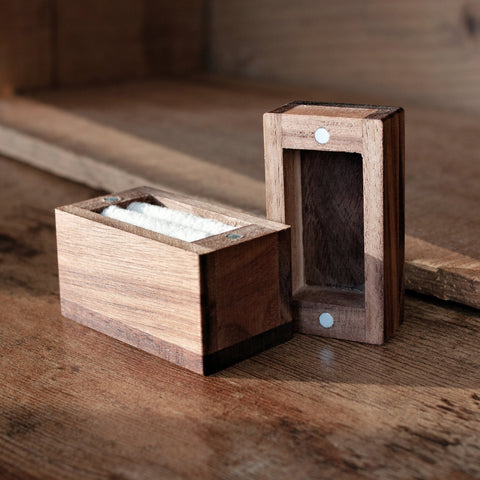 Magnetic Wooden Ring Box - Customizable With Your Own Personal Message