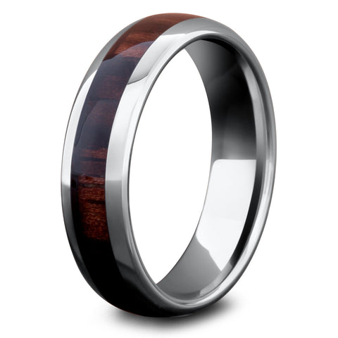 Men's Dark Wood Wedding Ring