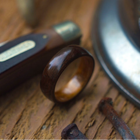 Dark Koa Wood Ring